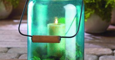 Blue Jar Candle Lantern