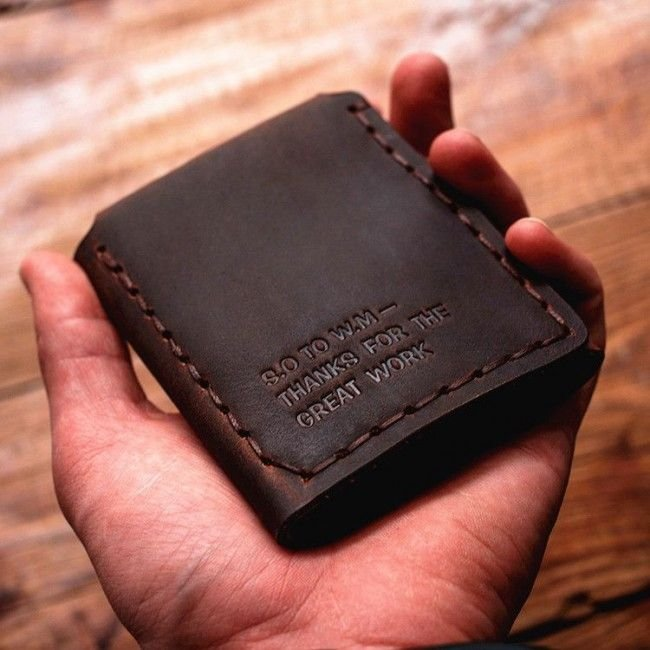 Walter Mitty Retro Handmade Genuine Crazy Horse Leather Wallet