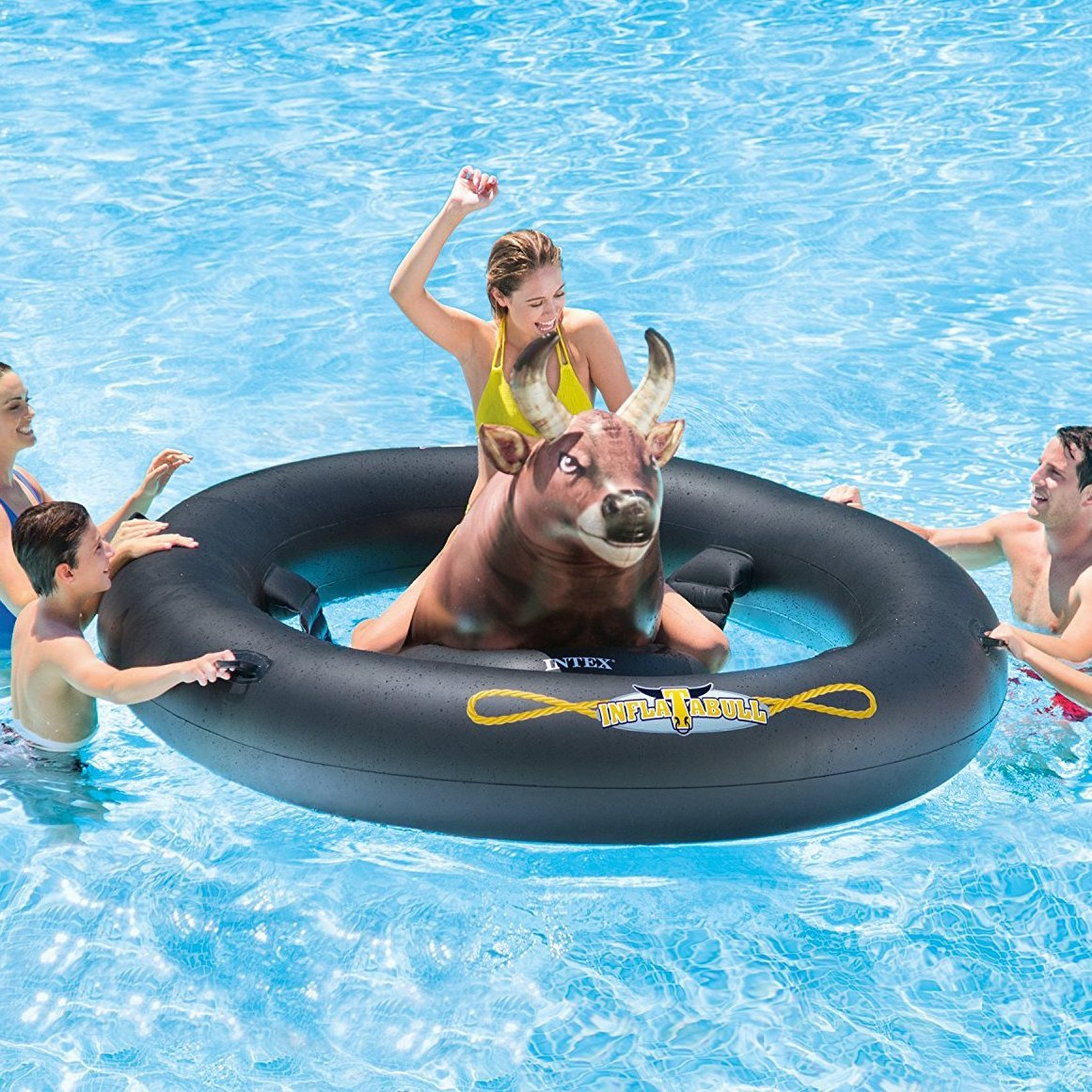 Inflat-A-Bull Pool Toy