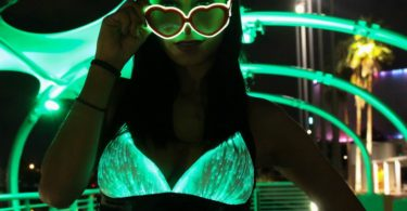 HolyThreads! Fiber Optic Halter Top