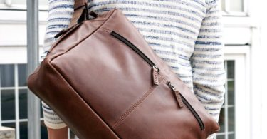 Brown Leather Addox Messenger Bag
