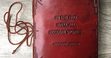 We All Become Stories Handmade Leather Journal