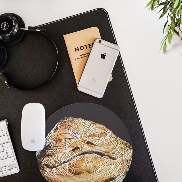 Jabba The Hutt Mouse Pad