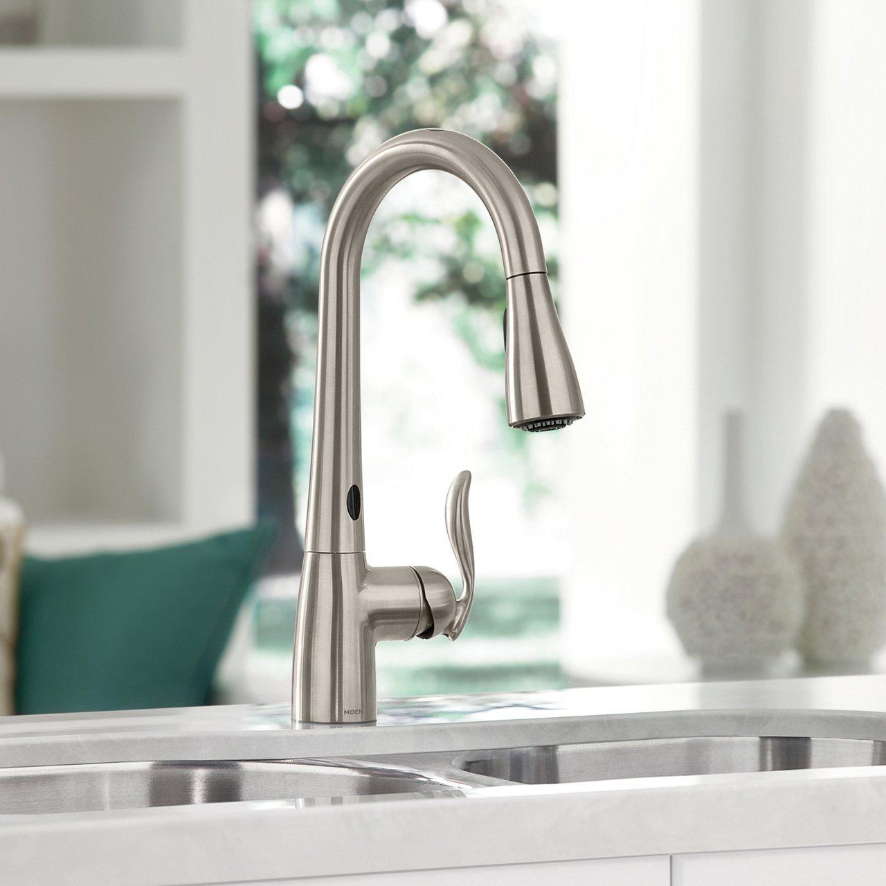 Motionsense Kitchen Faucet: Moen Arbor Motionsense Touchless Faucet » Petagadget