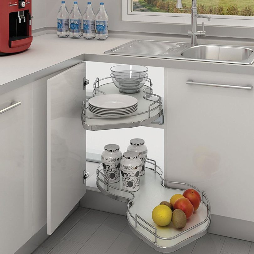 Pullout Cloud Two-Tier Blind Corner Organizer