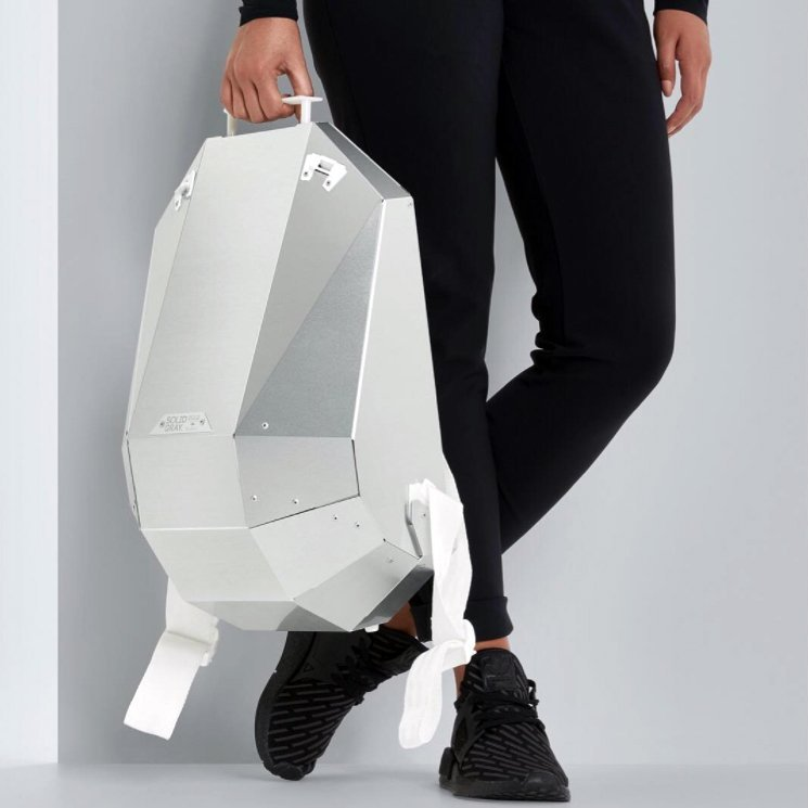 Aluminium Backpack by Solid Gray