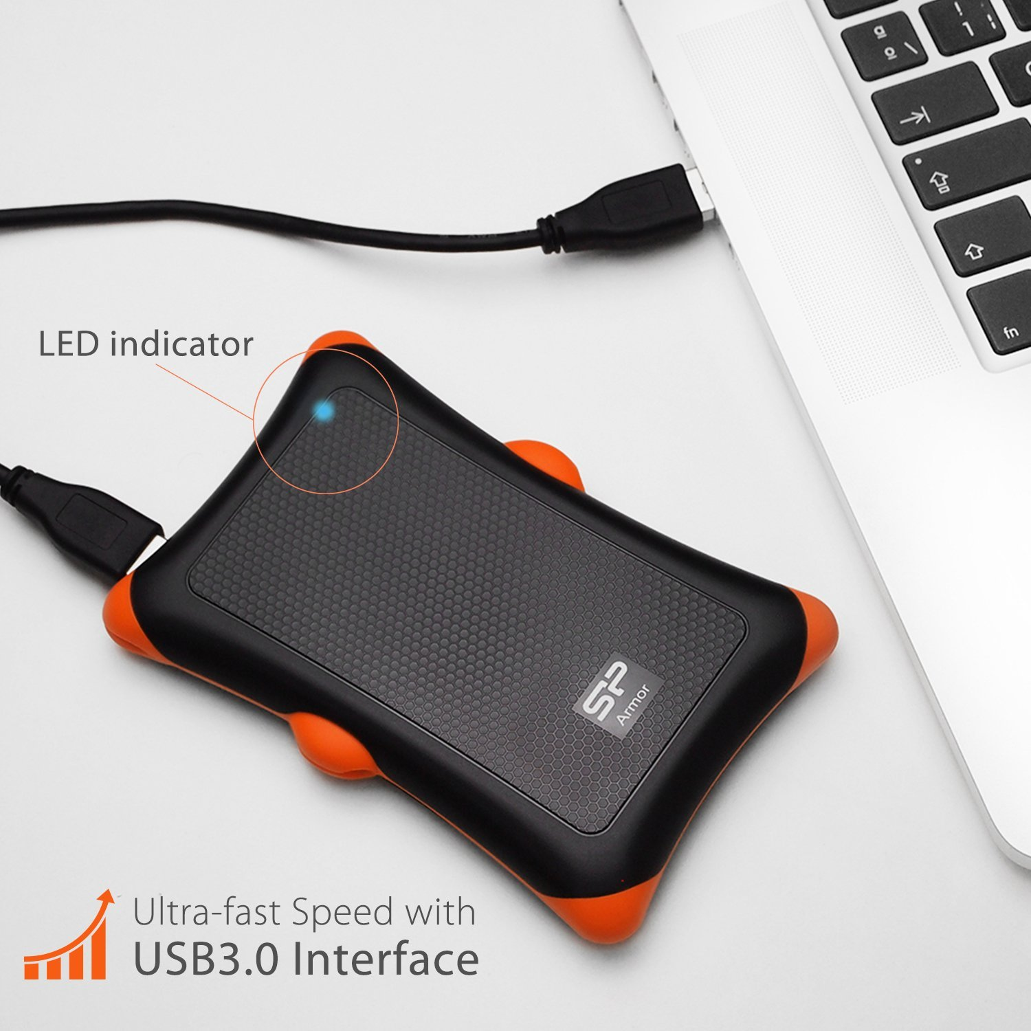 Silicon Power 1TB Rugged Armor A30 Military Grade Hard Drive
