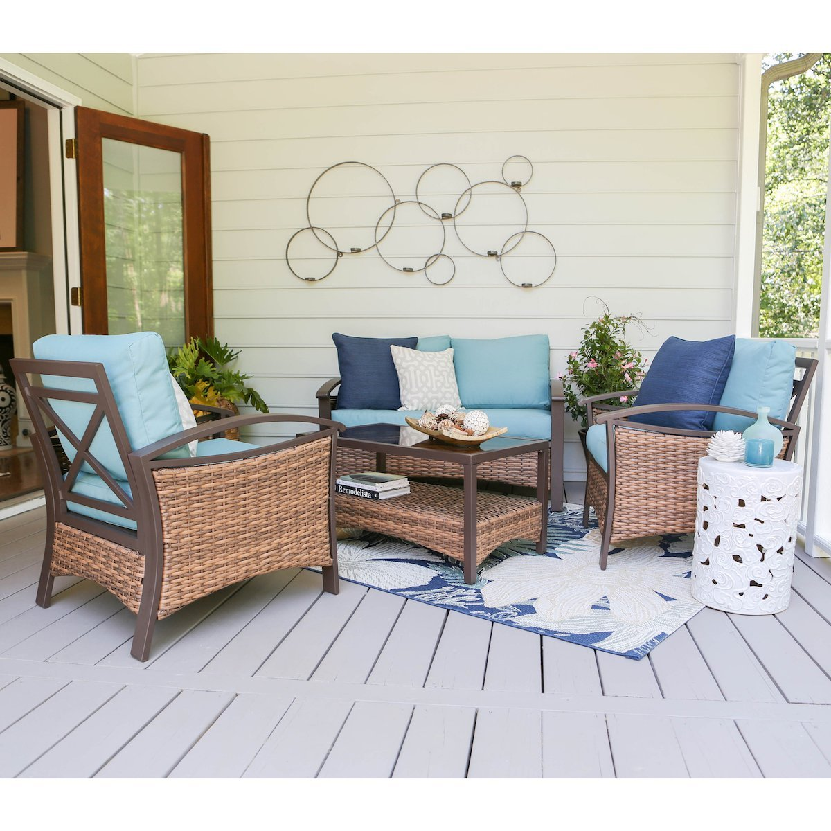 Leisure Made 4 Piece Thompson Wicker Seating
