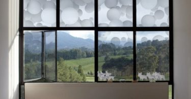 White Floating Balls Window Film