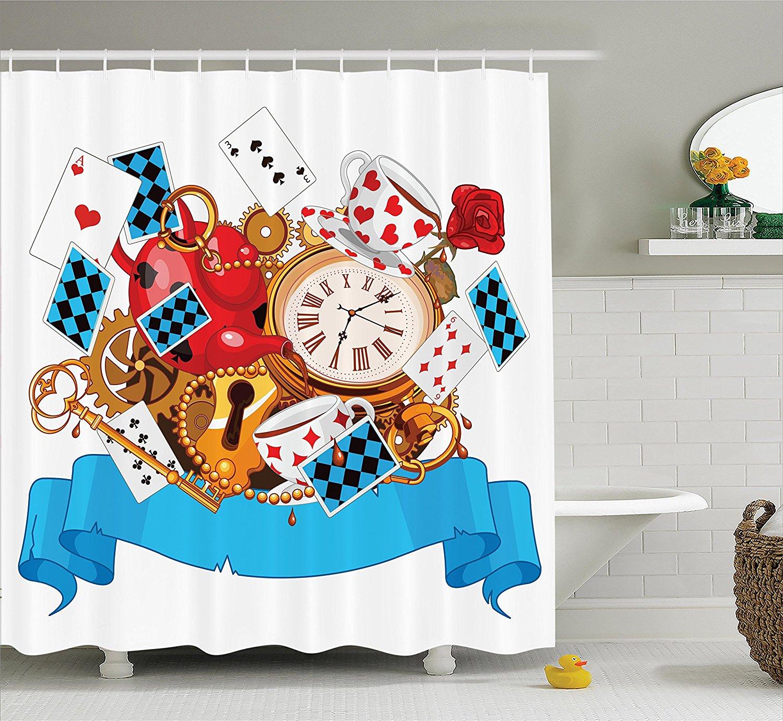 Alice in Wonderland Decorations Shower Curtain