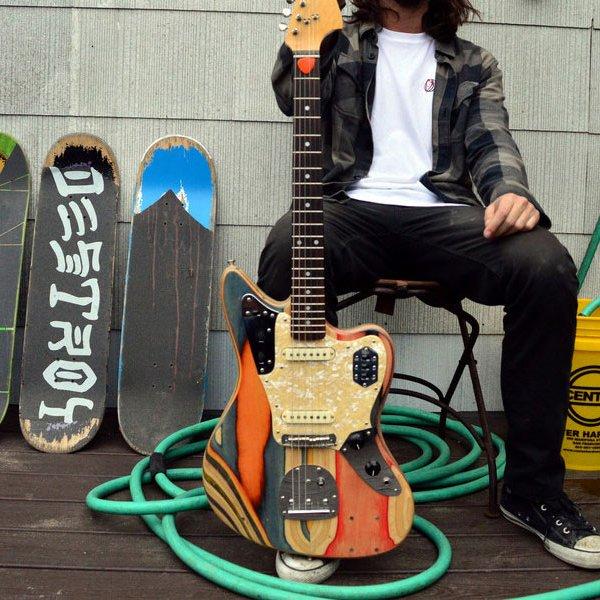 Prisma Recycled Skateboard Guitars