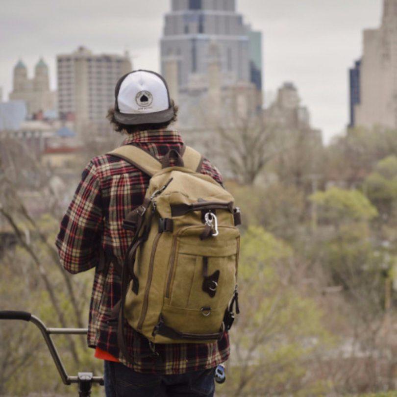 Vintage Canvas Multipurpose Lightweight Backpack
