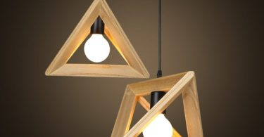 Geometric Wooden Pendant Lights
