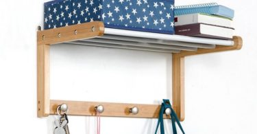 Wood Wall Shelf With Hooks