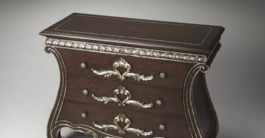 Butler Dante Carved Wood Console Chest