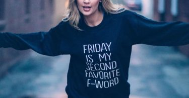 Friday Is My Second Favorite F Word Crew Neck Sweatshirt