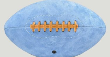Leather Head Blue Suede Football
