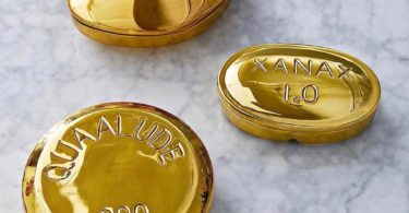 Brass Pill Boxes by Jonathan Adler