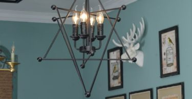 Black Vintage 8-Point Star Chandelier