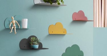 Cloud Shaped Wall Mounted Floating Shelf