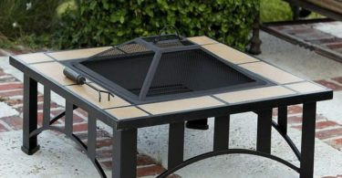 Fire Sense Tuscan Tile Mission Style Square Fire Pit