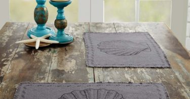 Sandy Burlap Grey Placemat Set of 6