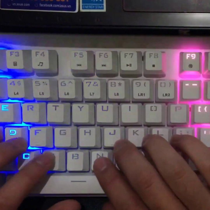 Firerose Waterproof Chroma LED Illuminated Keyboard