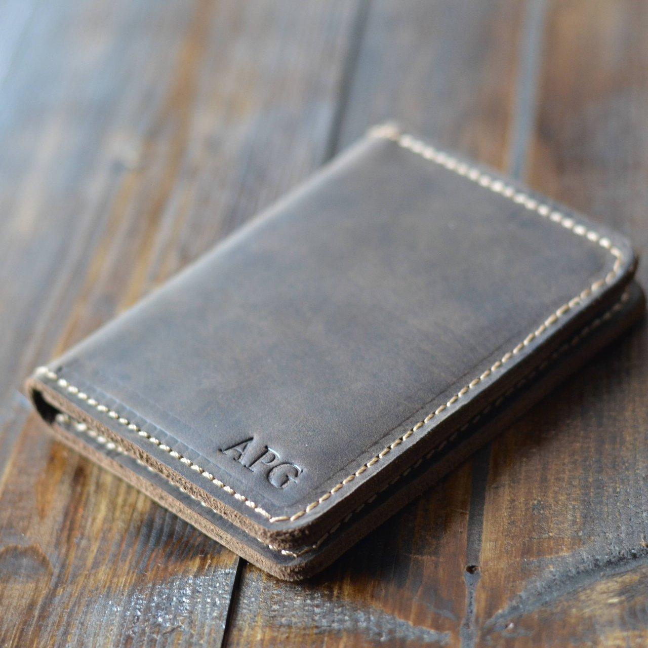 Knox Minimalist Chestnut Brown Bifold Wallet