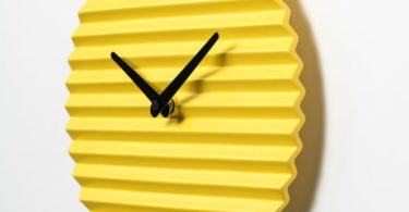 Yellow Wave Clock