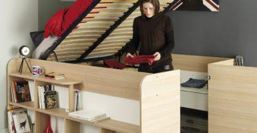 Parisot Mallow Silex Oak Platform Bed