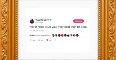 Rick Ross Framed Tweet