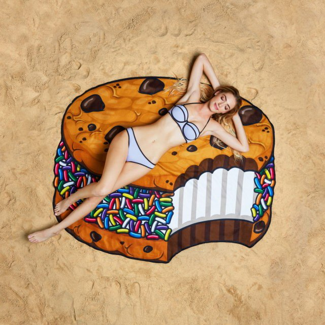 Ice Cream Sandwich Cookie Beach Towel Blanket