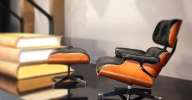 Miniature Eames Lounge and Ottoman