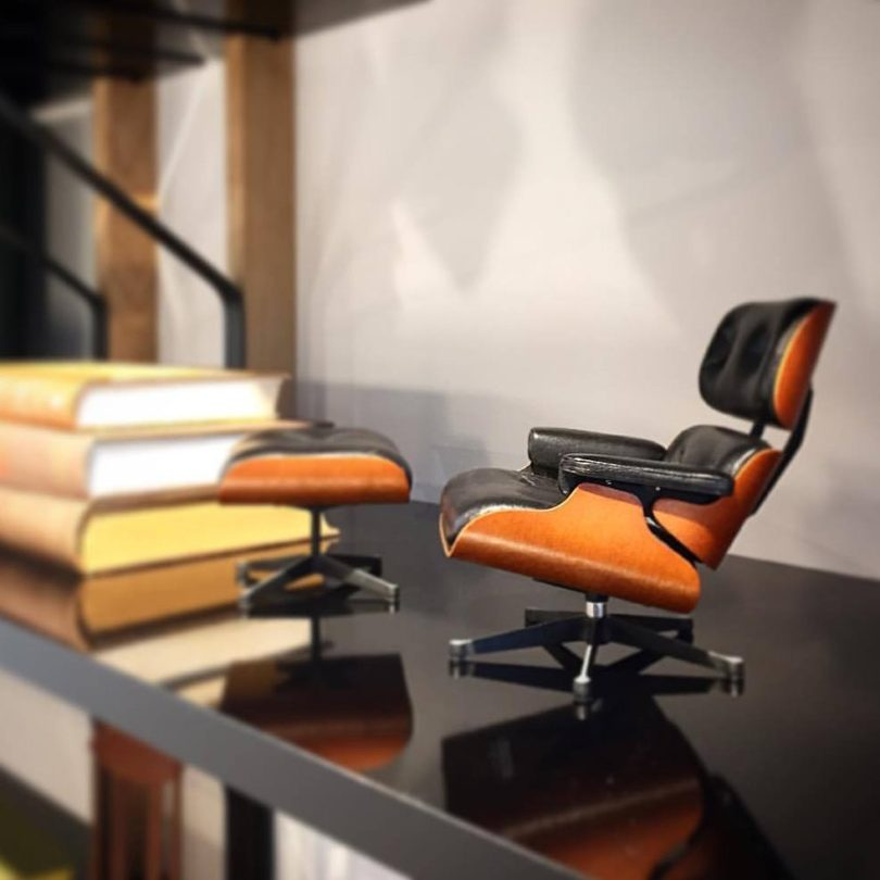Miniature Eames Lounge And Ottoman 187 Petagadget