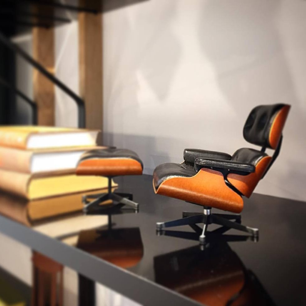 Miniature Eames Lounge And Ottoman Petagadget