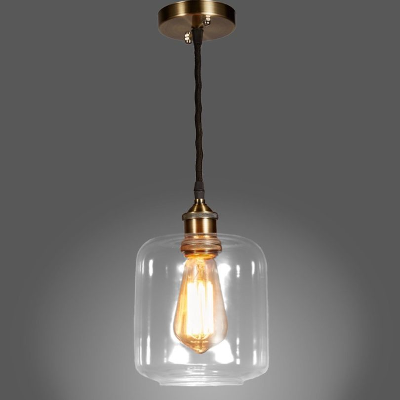 MonaLisa Gallery, Industrial Edison Vintage Style 1-Light Pendant