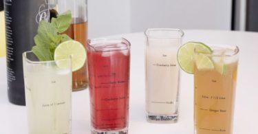 Kikkerland Tall Bartending Glass