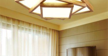 Modern LED Pendant Flush Mount Ceiling Fixtures Light Japanese Style