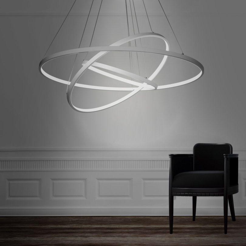 led pendant lighting fixtures. modern 3 rings large led pendant light led lighting fixtures