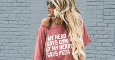My Head Says Gym But My Heart Says Pizza Loose Blouse