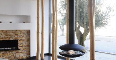 Perola Hanging Fireplace