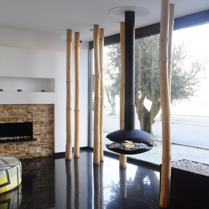 Perola Hanging Fireplace