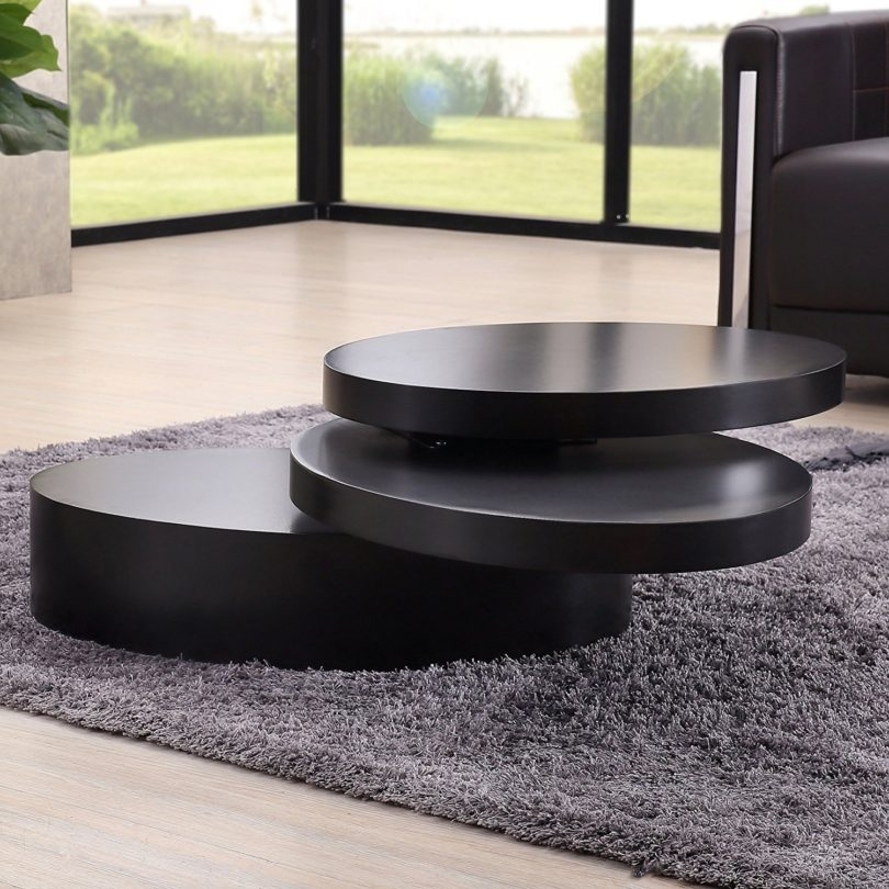 Attrayant Uenjoy Rotating Coffee Table