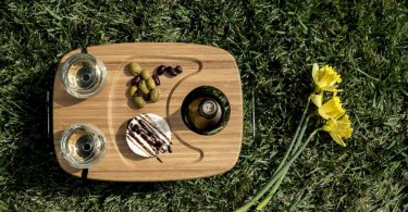 Picnic Time 'Mesavino' Portable Wine and Snack Table