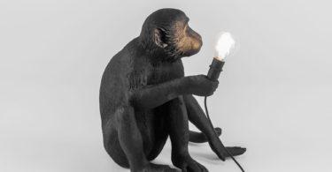Sitting Monkey Lamp