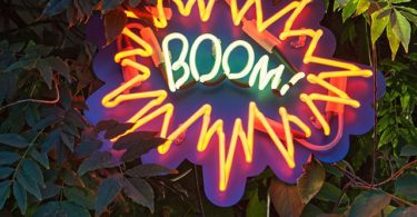 BOOM Neon Sign