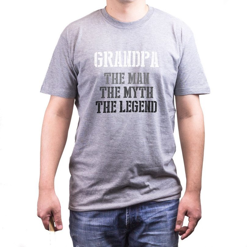 Grandpa Man Myth Legend Grey T-Shirt