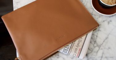 Recharging Leather Messenger