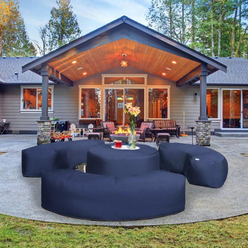 Lenox Four Piece Outdoor Patio Set by Jaxx