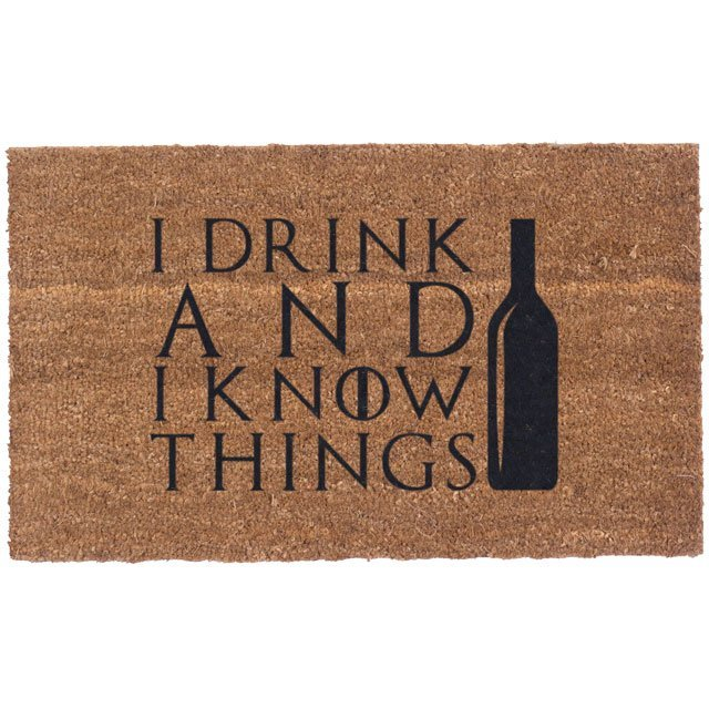 I Drink & I Know Things Coco Doormat